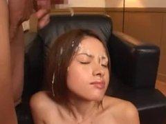 Short bukkake on a half-japanese girl part 1
