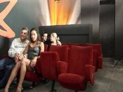 4 Couples Enjoying The Cinema