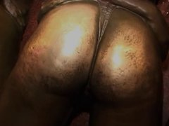 Ebony chick  gets her wet pussy pumped