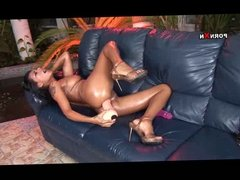 Kinky Amateur Joana Toying her Ass with Big Dildo