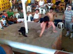 hairy wife is dancing nude in public