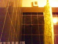 23 yo french girl with 34D boobs spied inside the shower