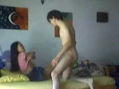 Asian girl get fucked by her bf