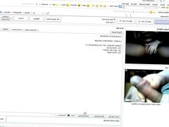 Flashing on Chatroulette - cum