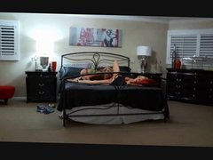 Threesome with guy for Old and young female bisexual couple