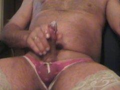 Panty cuming Stockings