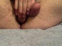 Self fuck with creampie in ass