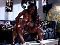 Ebony porn slut fucking hunk