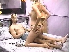 Cock pounding the sexy blond whore