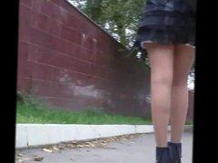 Mini Skirt Walking