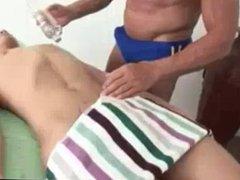 Nolan receives a pleased ending massage
