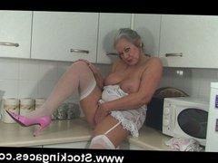 Sexy Mature Slut  Fucks herself In Kitchen