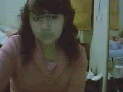 Chica mostrando tetas webcam messenger msn strip