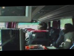 Serbian blonde suck cock in bus
