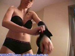 Lapdance and handjob
