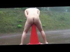 Nude pervert whore in public. Amateur