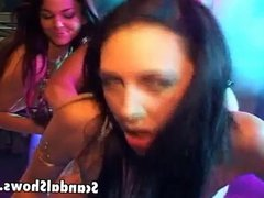 Horny guy fucking 2 hot girls at once