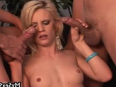Niki Cole gets fucked by two guys, every