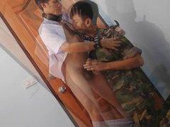 Military Guys Sucks Schoolboy