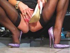 High heel masturbation
