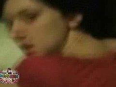 Slutty Emo Teen Gets Banged Hard By BF