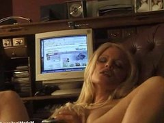 Big tits blonde masturbate in front of the computer-1