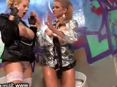 Passionate lesbos at the gloryhole