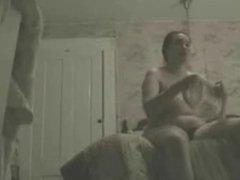 My mum caught dressing in bedroom by hidden cam.