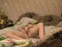 Hidden cam caught great masturbation of my horny mom