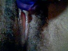 BLACK CUNT CLOSE-UP Clitoris Play and Cunt Juice