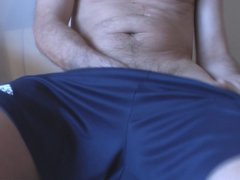 Hot mature plays with cock balls and ass, just for you