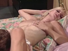 Blonde babe rides sucks and rides cock