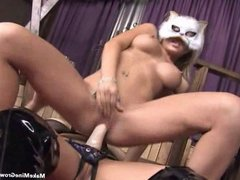 Hot lesbians fuck using a strap-on-2