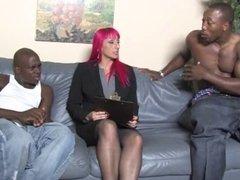 Perfect mature slut Raven Black owned by 3 blacks