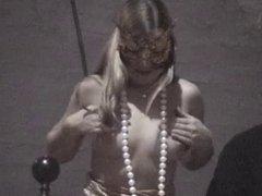 Girls flashing tits in public