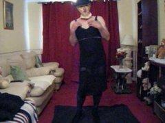 ME MASKED UP,DRESSED & HAVING A GOOD DILDO WANK