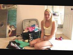 Cute Blonde Kacey loves to be filmed