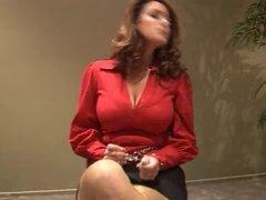 Cristina Carter on chair