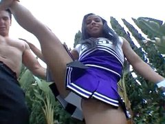 Goldie Cox and ebony cheerleader