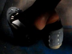 real hidden footsie young girl in bus