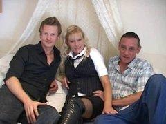 British MILF Sophie Threesome
