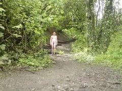 Nude in public - More walking in woods