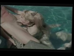 Randi Storm - Outdoor Sex in a Pool, anal, facial