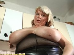 massive boobs in fishnet