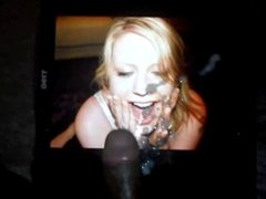 BBC wanks into her open mouth