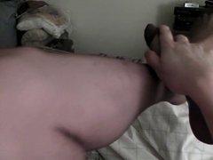 Cheap brown pantyhose jerk off, very nice cum shot!