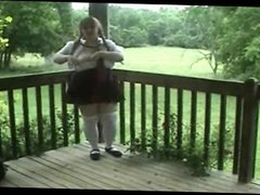 Bbw playing outdoor