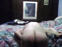 A Good Wood spanking of ass and thigh
