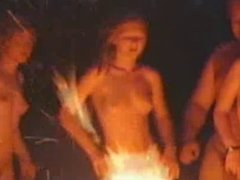 Naked fire dance