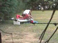 Fucking in a park